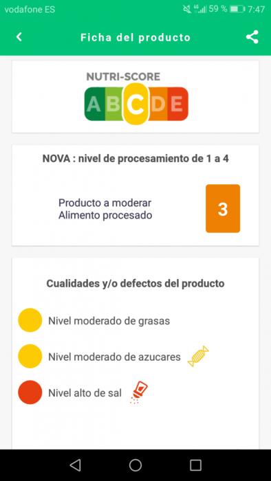App de nutrición el coco